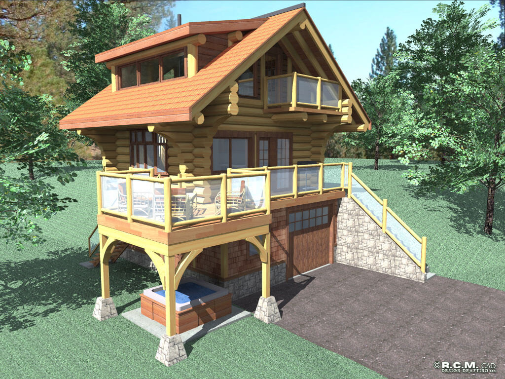 stonehouse woodworks | log house plans | golden british columbia