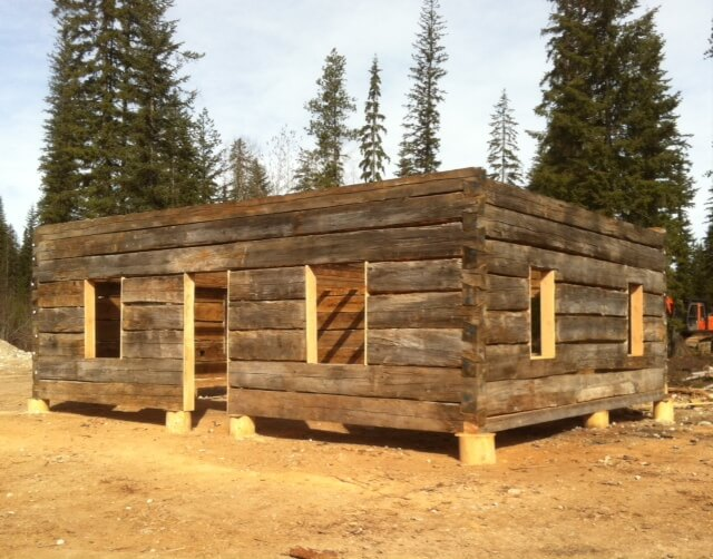 Stonehouse woodworks for sale heritage dovetail log shell for Log home cost calculator
