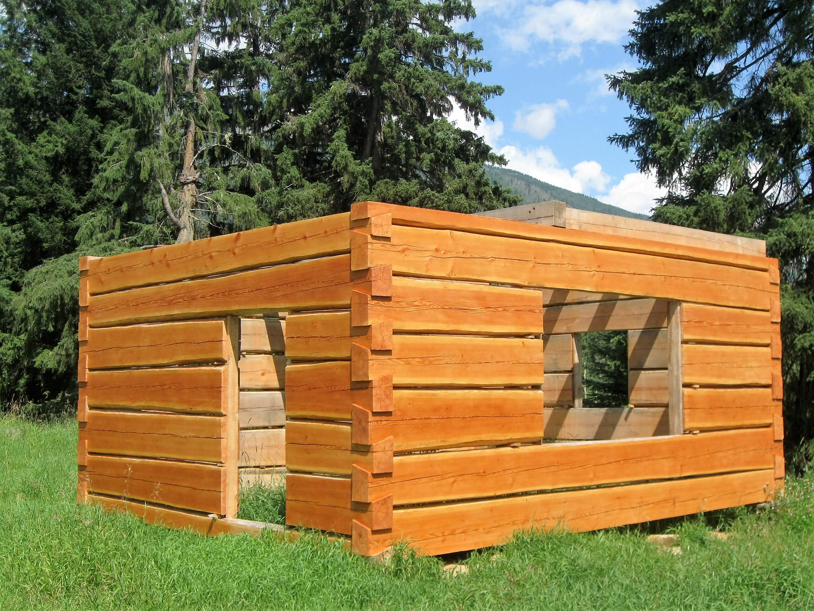 Wonderful image of Learn To Build Your Own Log Cabin with #1566B6 color and 2592x1944 pixels